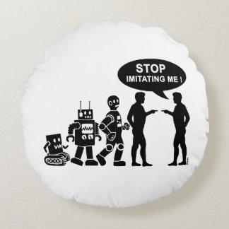 Robot evolution round pillow