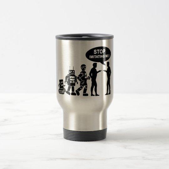 Robot evolution travel mug