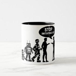 Robot evolution Two-Tone coffee mug