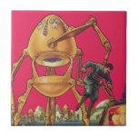 Robot extranjero de la ciencia ficción del vintage tejas
