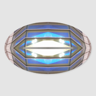 Robot Eye - CricketDiane SciFi Art Products Oval Sticker
