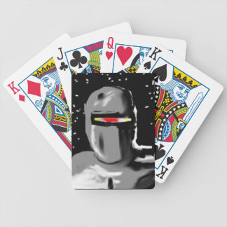 ROBOT FACE BICYCLE PLAYING CARDS