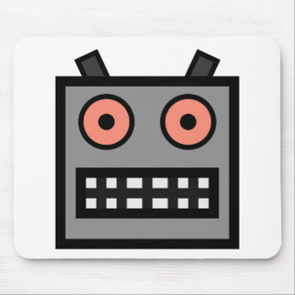 ROBOT FACE MOUSE PAD
