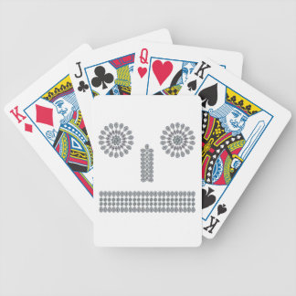 Robot Face Poker Cards