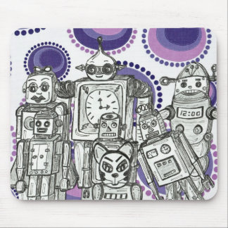 Robot Family 11 Mouse Pad