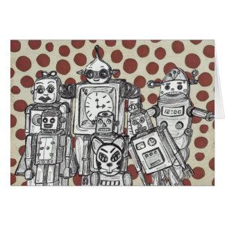 Robot Family 15 Card