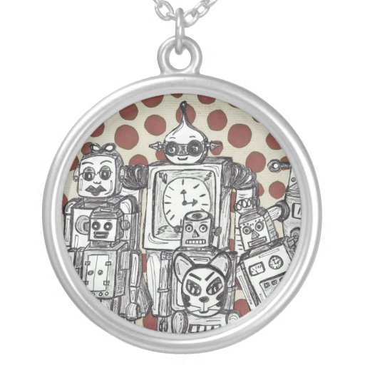 Robot Family 15 necklace