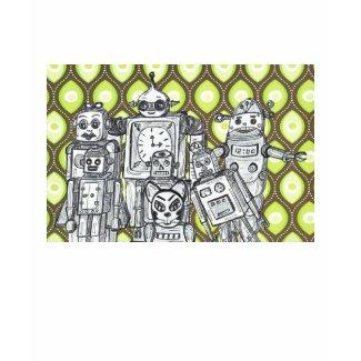 Robot Family 9 T shirt shirt