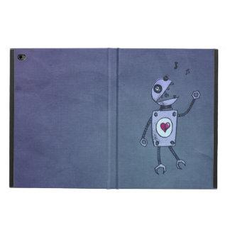 Robot feliz del canto del Grunge lindo