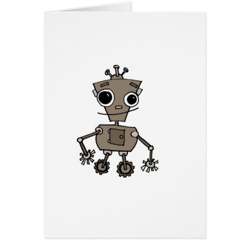 Robot feliz tarjeta de felicitación
