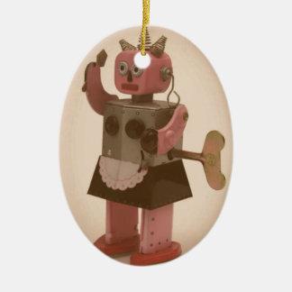 Robot Feminism Christmas Ornament