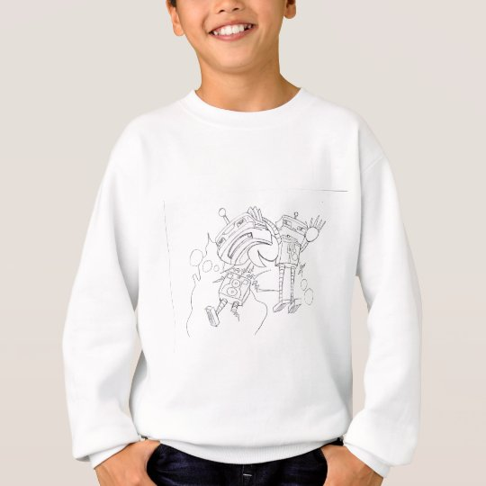 Robot Fight black and white version Sweatshirt