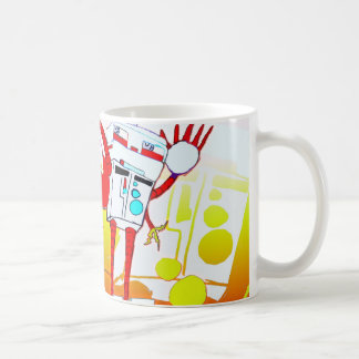 Robot Fight Color Version Classic White Coffee Mug