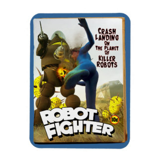 Robot Fighter Fake Pulp Cover 2 Magnet