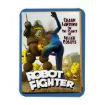 Robot Fighter Fake Pulp Cover 2 Rectangular Photo Magnet