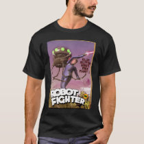 Robot Fighter Fake Pulp Cover T-Shirt