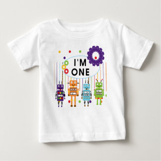 Robot First Birthday Tshirts and Gifts