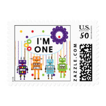 Robot First Birthday Tshirts and Gifts Postage