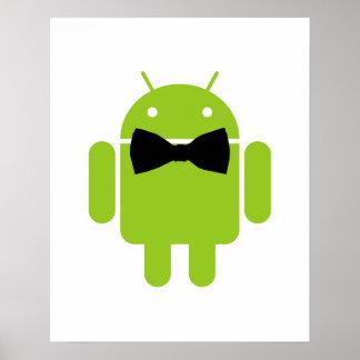 Robot formal del androide de Atire Póster