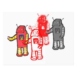 robot four postcard