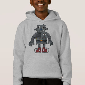 Robot front and back hoodie