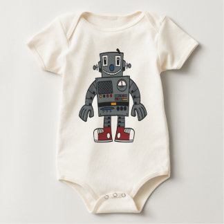 Robot front baby bodysuits