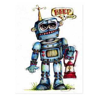 Robot Fun! Postcard