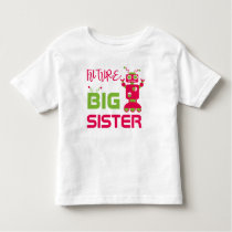 Robot Future Big Sister Kids Pink Cute Sibling Toddler T-shirt