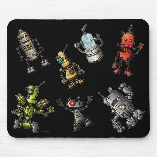Robot Gang Mouse Pad