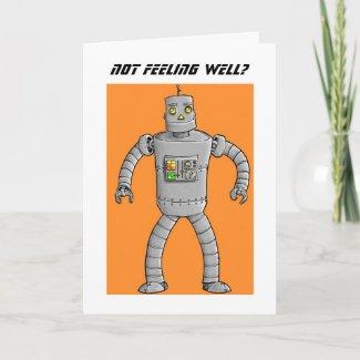 Robot Get Well Soon Card