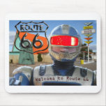 Robot Giganticus Route 66 Mouse Pad