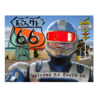 Robot Giganticus Route 66 Postcard