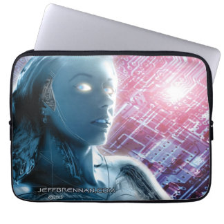 Robot Girl 2 Neoprene Laptop Sleeve 13 inch