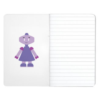 Robot girl cartoon journal