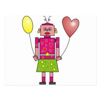 Robot Girl Postcard