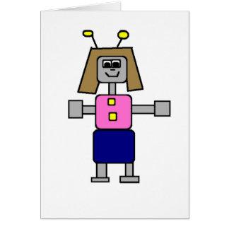 Robot Girlfriend Card