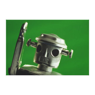 Robot Green on Canvas Gallery Wrapped Canvas