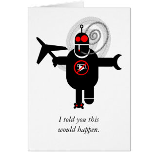 Robot! Greeting Card