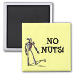 Robot guy - Feed no nuts Fridge Magnet