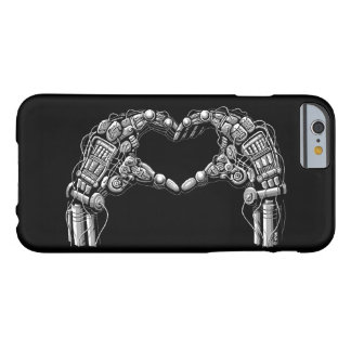Robot hands make heart shape barely there iPhone 6 case