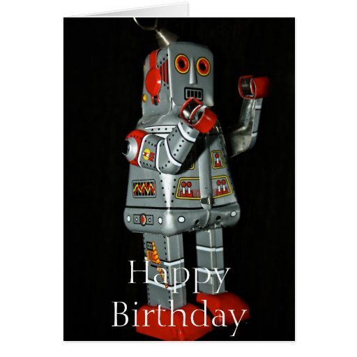 Robot  Happy Birthday Card