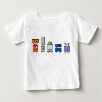 Robot happy bunch dvd buttons electronics robots baby T-Shirt
