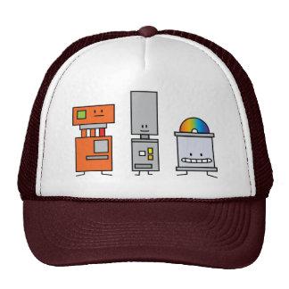 Robot happy bunch dvd buttons electronics robots trucker hat