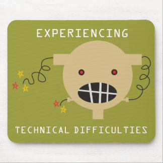 robot head broken circuit technical difficulties mouse pad