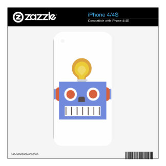 Robot Head iPhone 4S Decals