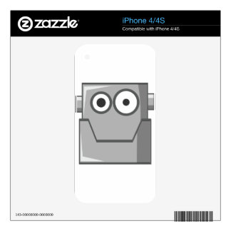 Robot Head Skin For The iPhone 4S