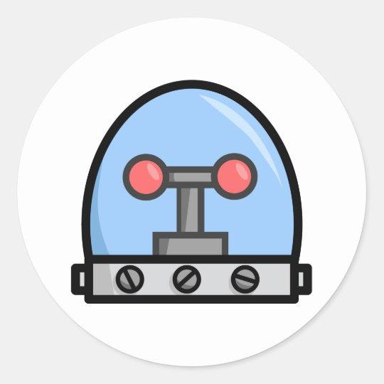 Robot Heads Classic Round Sticker