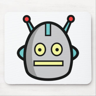 Robot Heads Mouse Pad