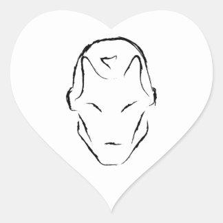 robot heart sticker