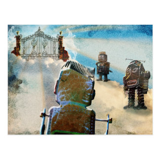 Robot Heaven Postcard